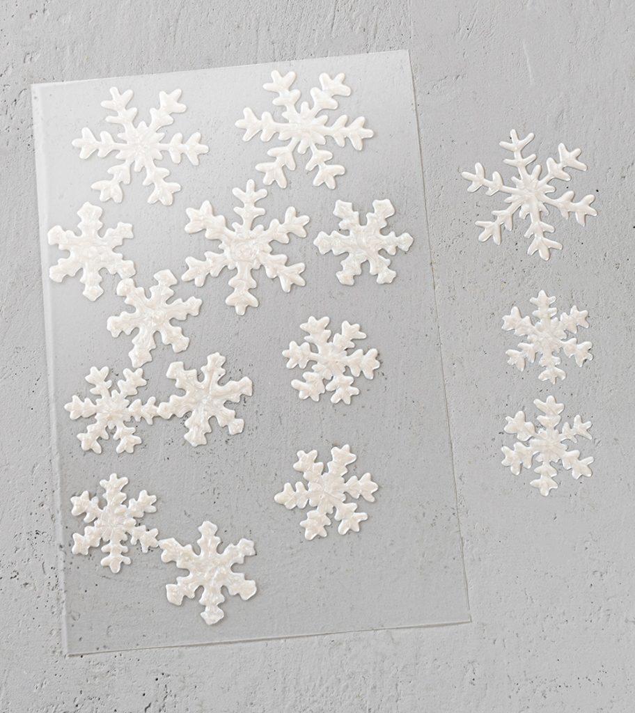 Schneeflocken Fensterdekoration
